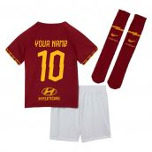 2019-2020 AS Roma Home Nike Little Boys Mini Kit (Your Name)