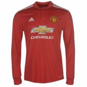 Man Utd 2017-2018 Home Long Sleeve Shirt