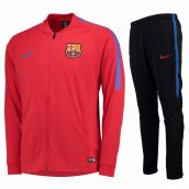 Barcelona 2017-2018 Squad Woven Tracksuit (Red)