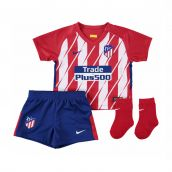 Atletico Madrid 2017-2018 Home Baby Kit