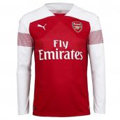 Arsenal 2018-2019 Home Long Sleeve Shirt (Kids)