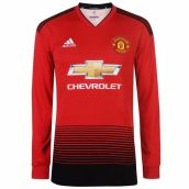 Man Utd 2018-2019 Home Long Sleeve Shirt