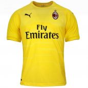 AC Milan 2018-2019 Home SS Goalkeeper Shirt (Yellow) - Kids