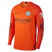 Man City 2018-2019 Goalkeeper Shirt (Orange) fbec2baab