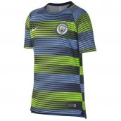 Man City 2018-2019 Pre-Match Training Shirt (Volt-blue)