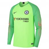 Chelsea 2018-2019 Goalkeeper Shirt (Green) - Kids