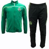 Sporting Lisbon 2018-2019 Macron Travel Tracksuit (Green)