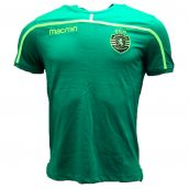Sporting Lisbon 2018-2019 Macron Cotton T-Shirt (Green)