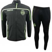 Sporting Lisbon 2018-2019 Macron Travel Tracksuit (Black)