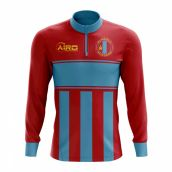 c9ac7306887 Mongolia Concept Football Half Zip Midlayer Top (Red-Blue)