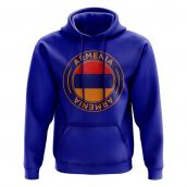 Armenia Football Badge Hoodie (Blue)