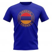 Armenia Football Badge T-Shirt (Royal)