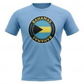 Bahamas Football Badge T-Shirt (Sky)