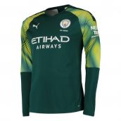 Manchester City 2019-2020 Home LS Goalkeeper Shirt (Green)