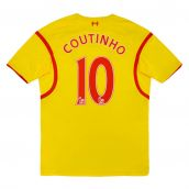 2014-2015 Liverpool Away Shirt (COUTINHO 10) (Excellent) (Excellent)