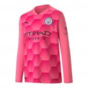 Man City 2020-2021 Away Goalkeeper Shirt (Pink) - Kids