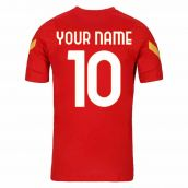 2020-2021 AS Roma Nike Training Shirt (Red) (Your Name)