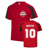 Stevan Jovetic Monaco Sports Training Jersey (Red)