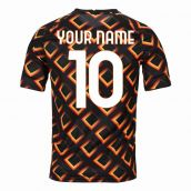 2020-2021 AS Roma Nike Pre-Match Training Jersey (Black) - Kid (Your Name)