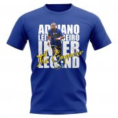 Adriano Inter Milan Player T-Shirt (Blue)