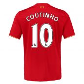 Liverpool 15-16 Home Shirt (Coutinho 10) - Kids