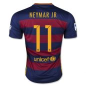 Barcelona 15-16 Home Shirt (Neymar JR 11) - Kids