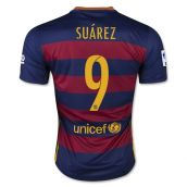 Barcelona 15-16 Home Shirt (Suarez 9) - Kids