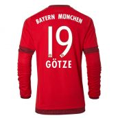 Bayern Munich Long Sleeve 15-16 Home Shirt (Gotze 19)
