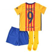 Barcelona 15-16 Away Mini Kit (Suarez 9)