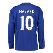 Chelsea 15-16 Long Sleeve Home Shirt (Hazard 10) - Kids
