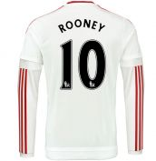 2015-2016 Man Utd Long Sleeve Away Shirt (Rooney 10)