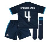 2015-2016 Real Madrid Third Mini Kit (Sergio Ramos 4)