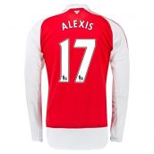 Arsenal 15-16 Home Long Sleeve Shirt (Alexis 17) - Kids