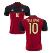 Belgium 2016-2017 Home Shirt (Your Name)