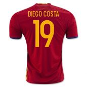 Spain 2016-2017 Home Shirt (Diego Costa 19)
