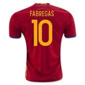 Spain 2016-2017 Home Shirt (Fabregas 10)