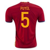Spain 2016-2017 Home Shirt (Puyol 5)