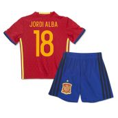 2016-2017 Spain Home Mini Kit (Jordi Alba 18)
