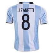 2016-17 Argentina Home Shirt (J.Zanetti 8) - Kids