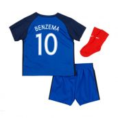 France 16-17 Home Baby Kit (Benzema 10)