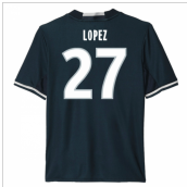 2016-17 Marseille Away Shirt (Lopez 27) - Kids
