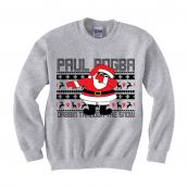 Paul Pogba Christmas Dabbin Jumper (Grey) - Kids