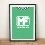 St Etienne 1975 Football Shirt Art Print