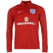 England 2016-2017 Training Drill Top (Red)