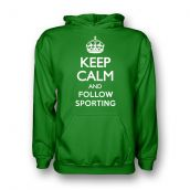 Keep Calm And Follow Sporting Lisbon Hoody (green)