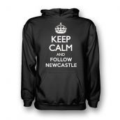 Keep Calm And Follow Newcastle Hoody (Black) - Kids