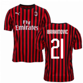 2019-2020 AC Milan Puma Home Shirt (Kids) (Ibrahimovic 21)