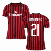 2019-2020 AC Milan Puma Home Womens Shirt (Ibrahimovic 21)