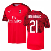 2019-2020 AC Milan Puma Training Shirt (Red) (Ibrahimovic 21)