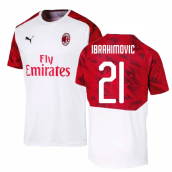 2019-2020 AC Milan Puma Training Shirt (White) (Ibrahimovic 21)